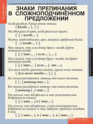 """Таблицы демонстрационные """"Русский язык 9 кл."""""""